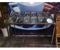 Thanh lý kệ trưng bày hải sản INOX 12 khay